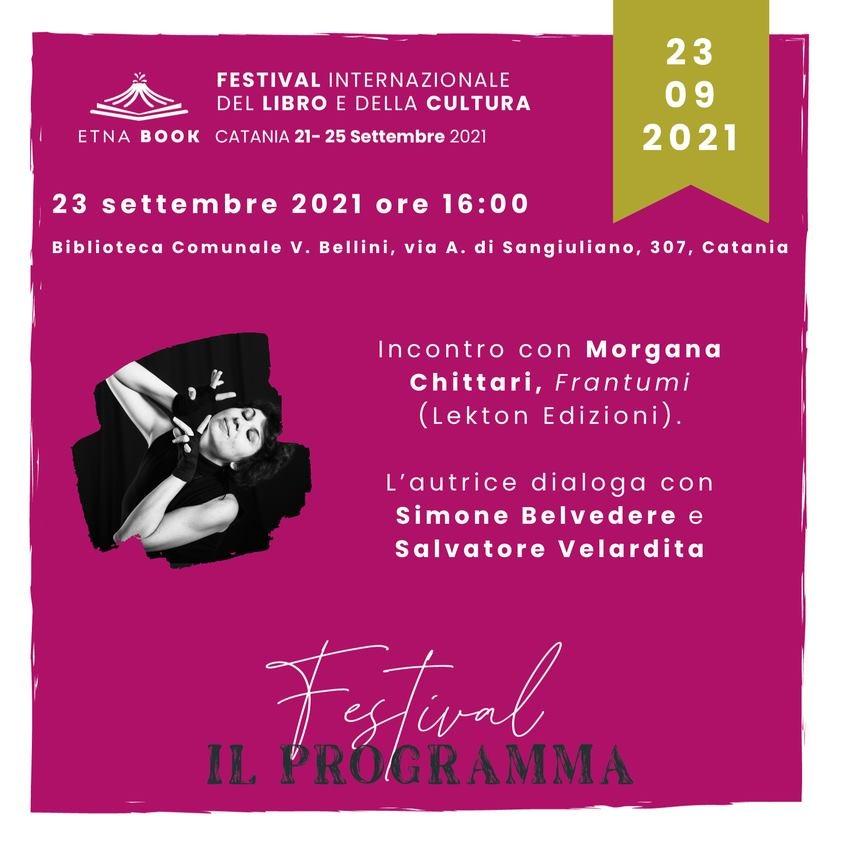 Presentazione - FRANTUMI di Morgana Chittari all'Etnabook - Festival Internazionale del Libro